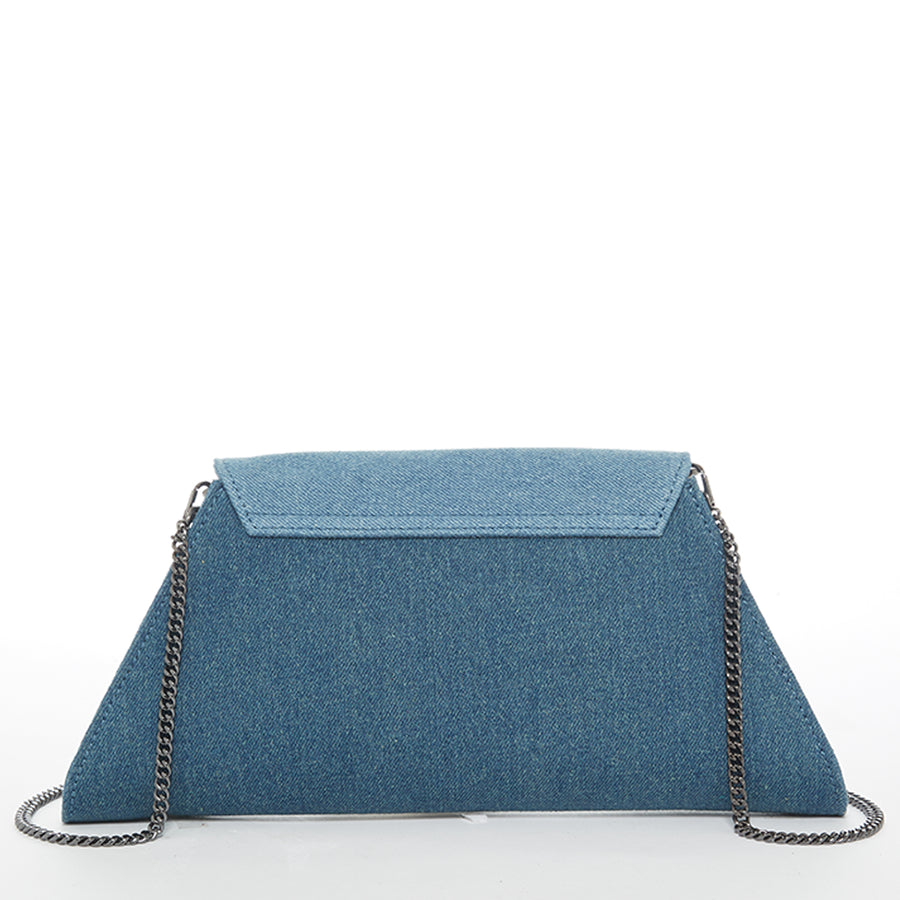 Two Tone Denim Clutch | SUSU Handbags