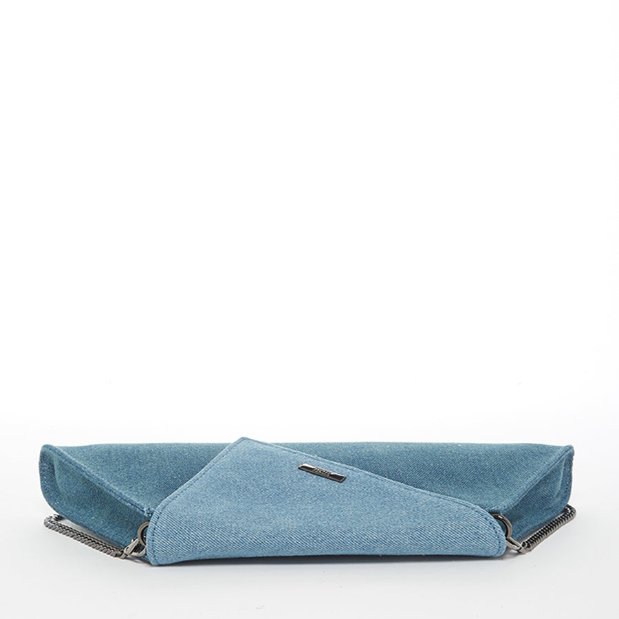 denim clutch two tone | SUSU Handbags