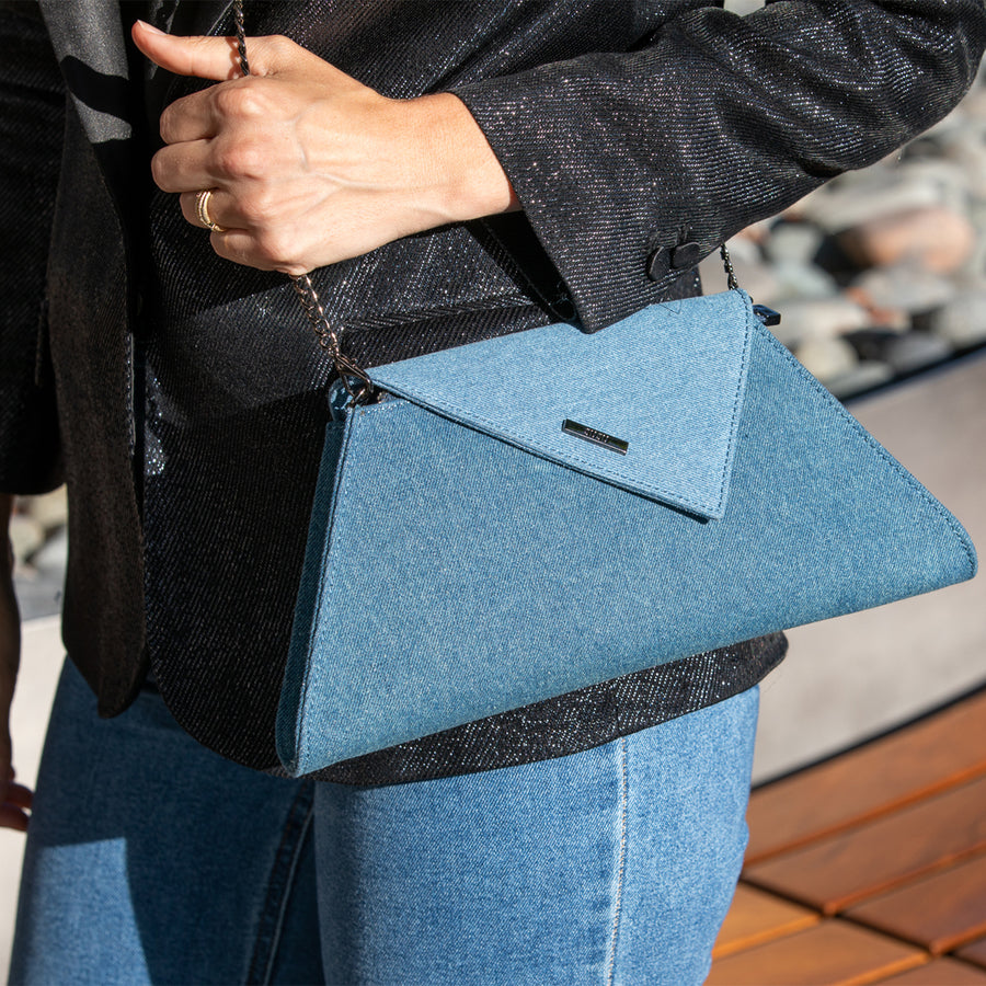 Two Tone Denim Bag | SUSU Handbags
