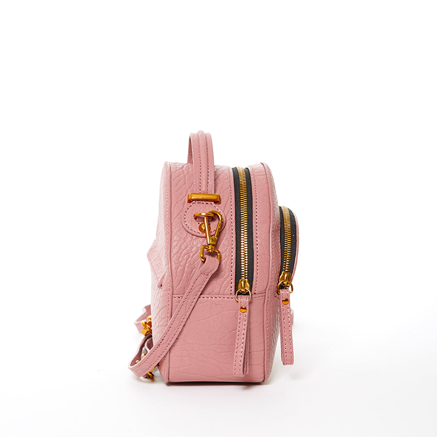 mauve leather backpack | SUSU Handbags