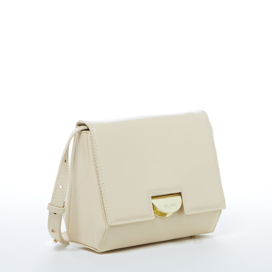 Off white Leather Saddle Bag | SUSU Handbags