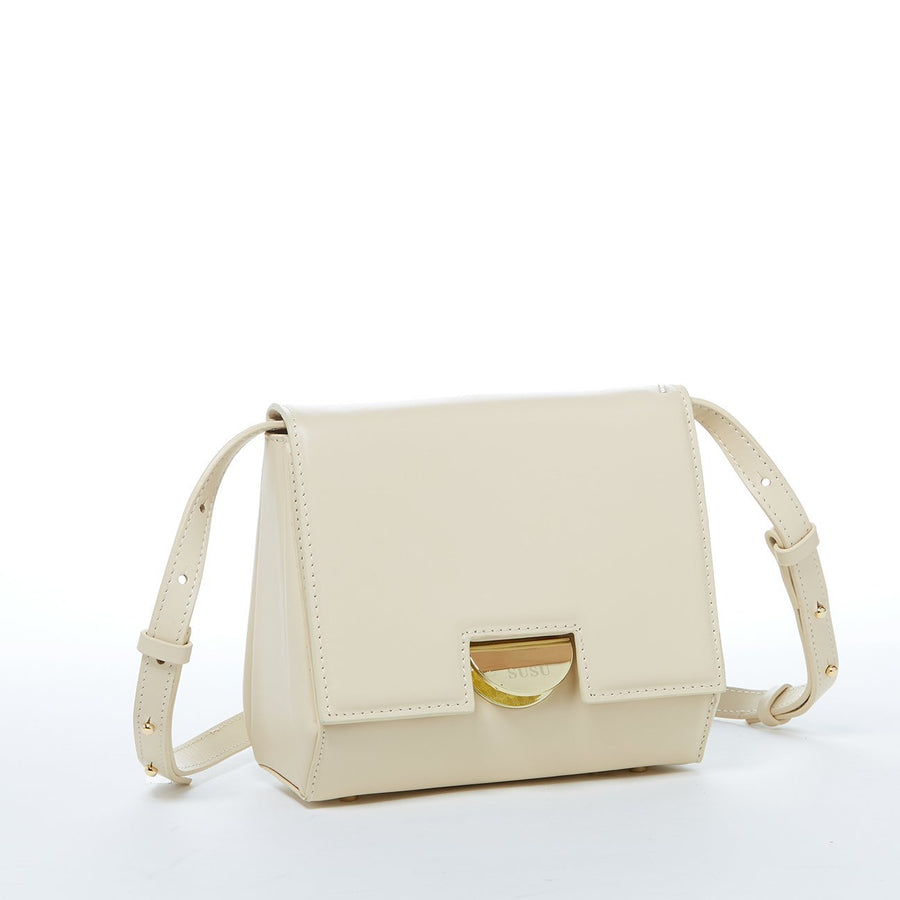 Off white Leather Crossbody | SUSU Handbags