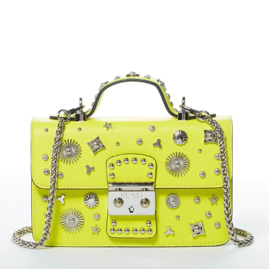 Bright Yellow Studded Purse | SUSU Handbags