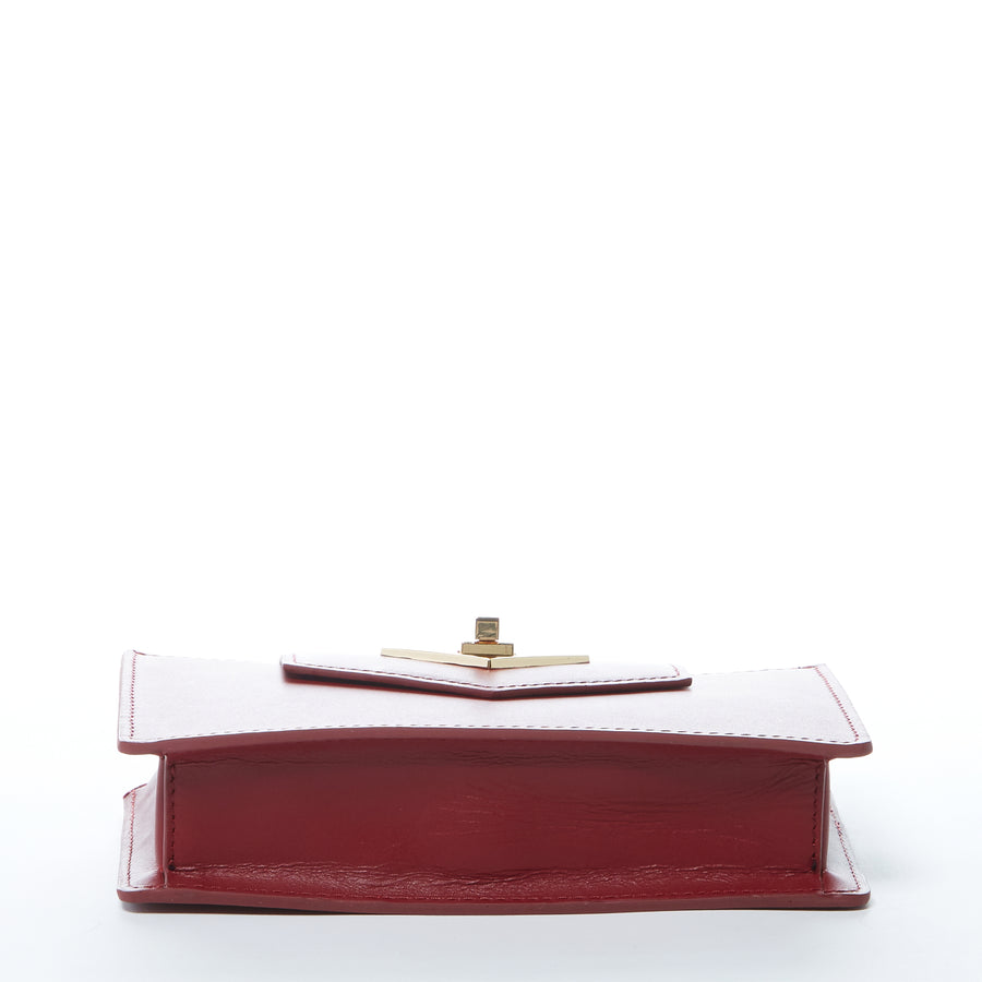burgundy leather purse | SUSU Handbags