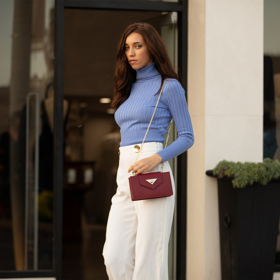 burgundy crossbody bag | SUSU Handbags