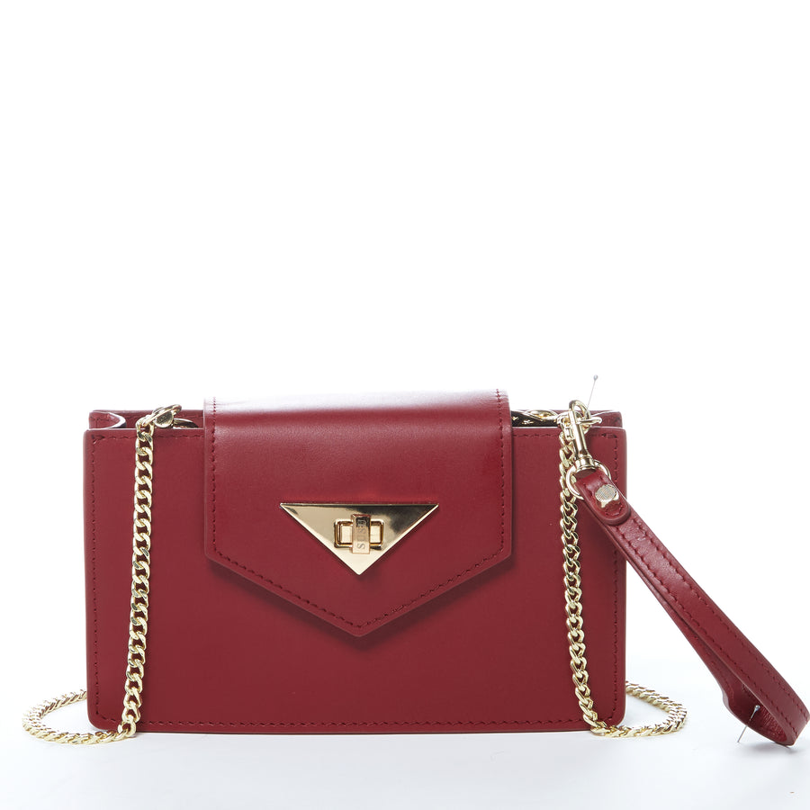 Burgundy Leather Crossbody | SUSU Handbags
