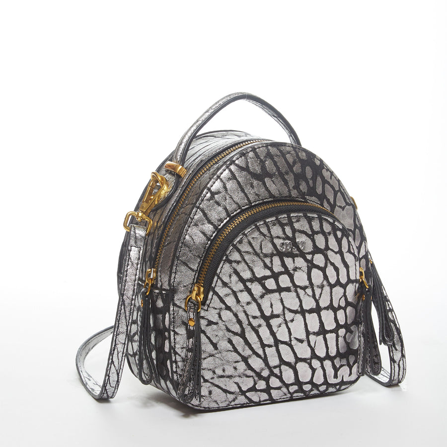 small gray leather backpack | SUSU Handbags