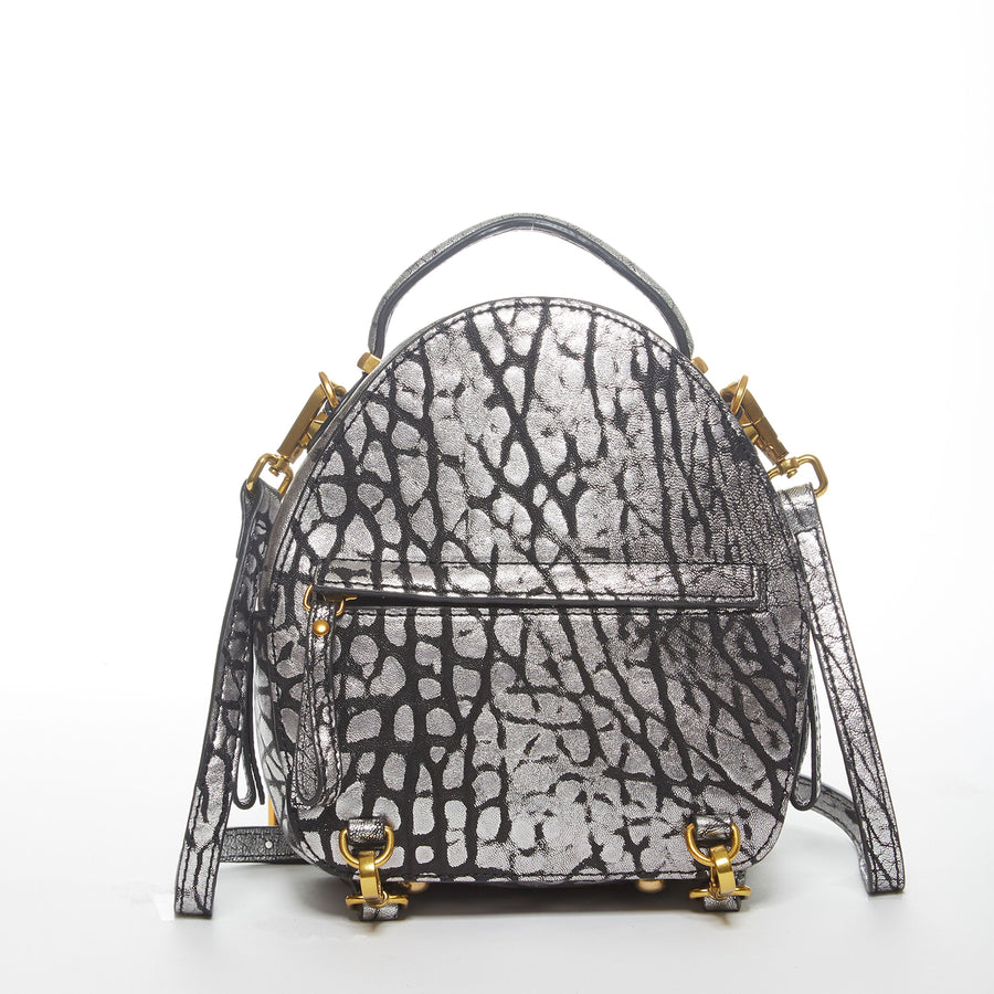 grey leather backpack purse | SUSU Handbags