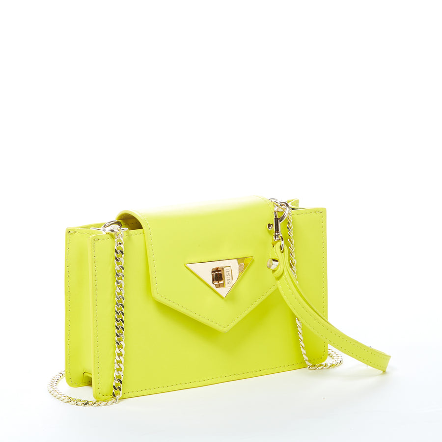 Yellow Leather Crossbody bag | SUSU Handbags