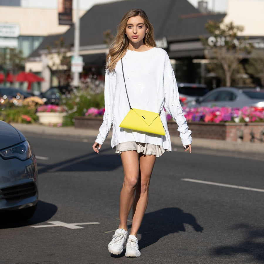 yellow clutch | SUSU Handbags