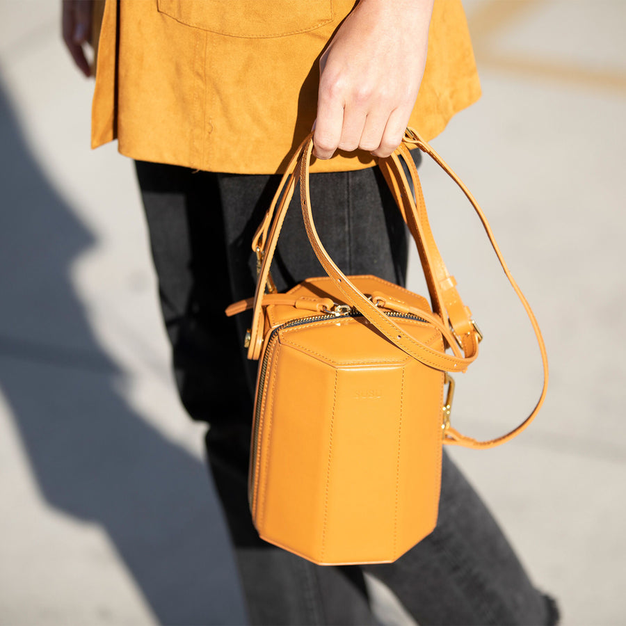Orange Designer Handbag