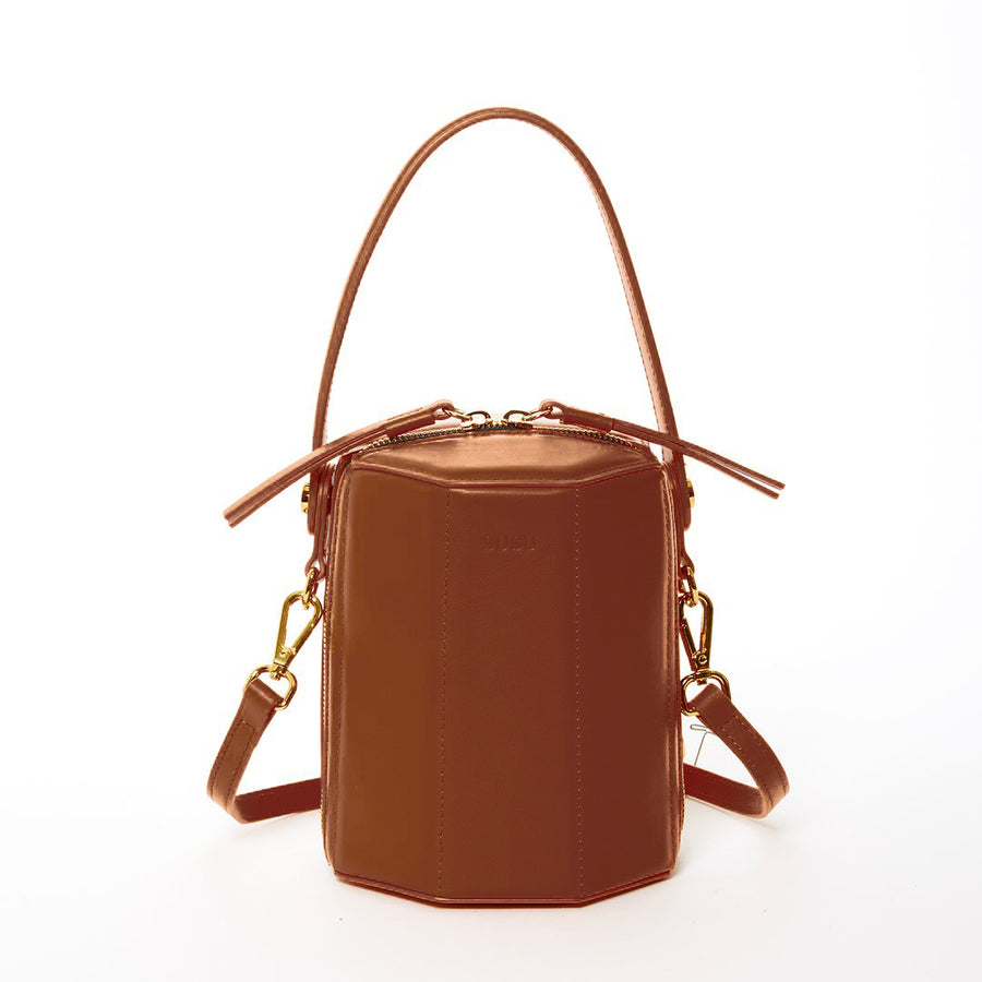 Amber Brown Bucket Bag | SUSU Handbags