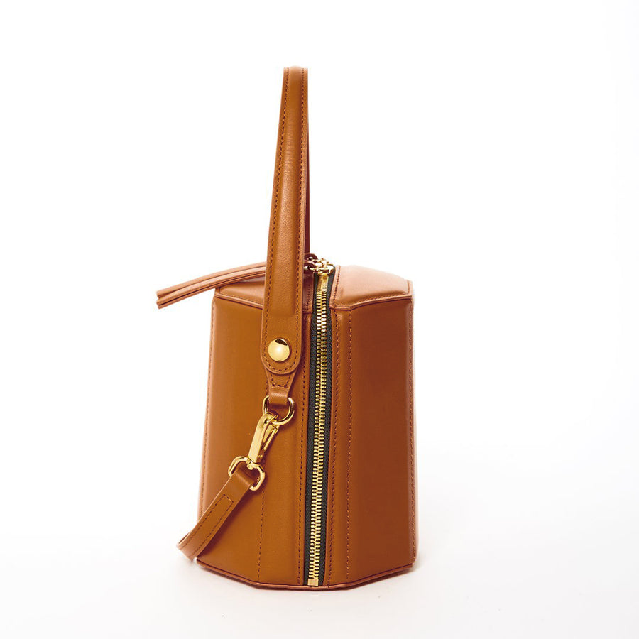 brown leather crossbody | SUSU Handbags