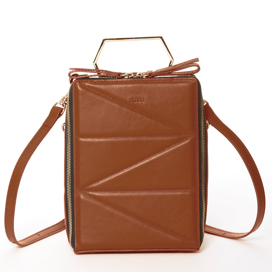 Brown leather backpack purse | SUSU Handbags