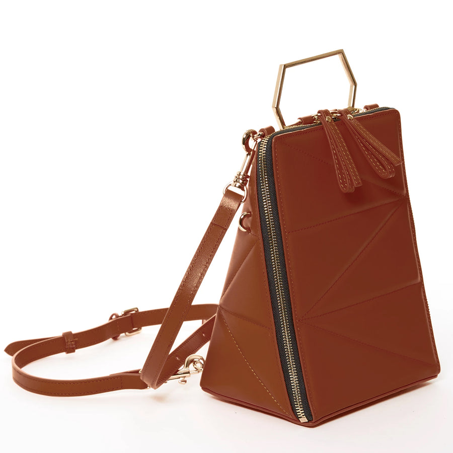 brown leather backpack women |  SUSU Handbags