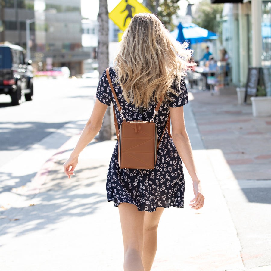 brown leather backpack | SUSU Handbags