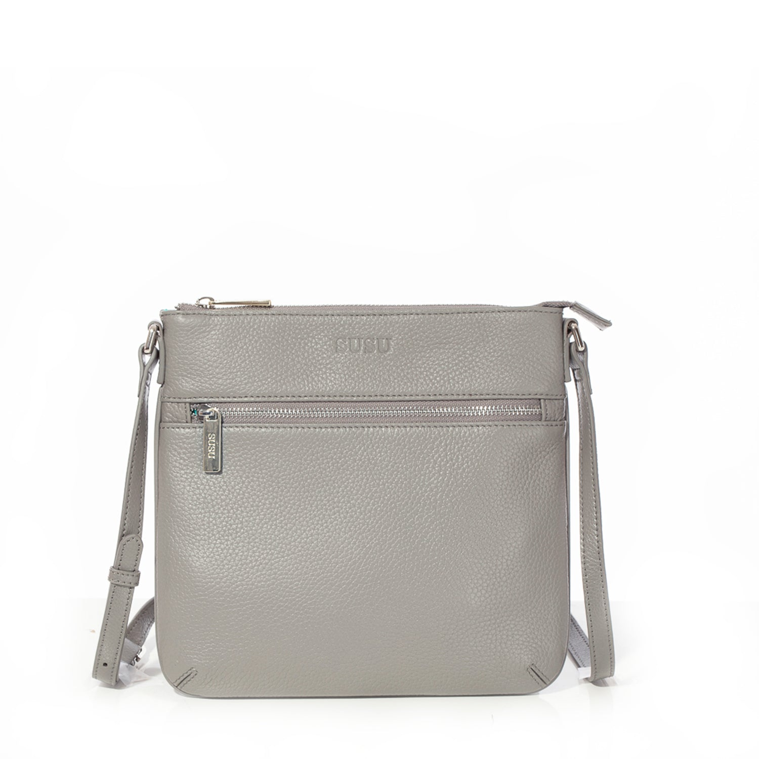 d8f0b18eb52 Saxon Pebble Leather Crossbody Bag Grey. Please upgrade to full version of  Magic Zoom Plus™