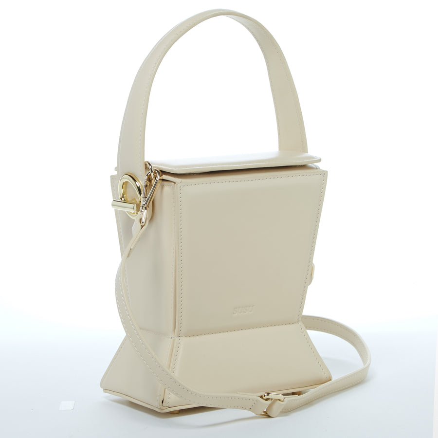 Off white leather crossbody bag | SUSU Handbags