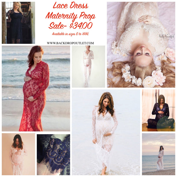Maternity Lace Dress Photo Prop