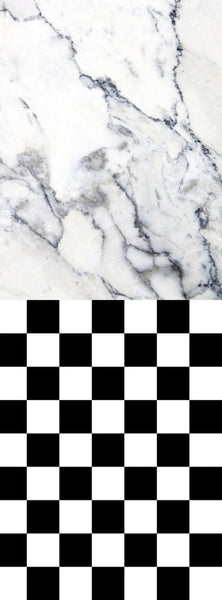 S100 White Marble Checkerboard Pattern Switchover Backdrop