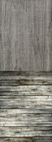 S102 Grunge Textured Ash Wood Grey Wall Switchover Backdrop - Backdrop Outlet