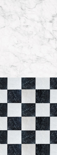 S105 White Marble Checkerboard Pattern Switchover Backdrop