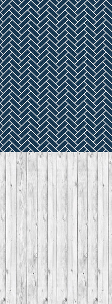 S116 Lace Cotton Wood Navy Blue Stacked Tiled Switchover Backdrop