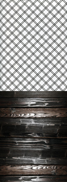 S123 Criss Cross Black Striped Modern Plank Wood Switchover Backdrop