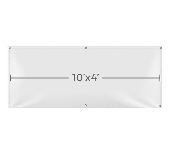VB106 Custom Printed Vinyl 10X4 Banner - Backdrop Outlet