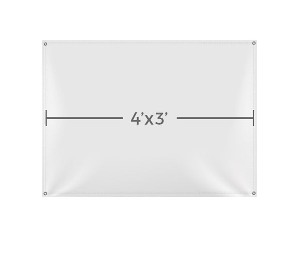Custom Printed Vinyl 4X3 Banner - VB101 - Backdrop Outlet