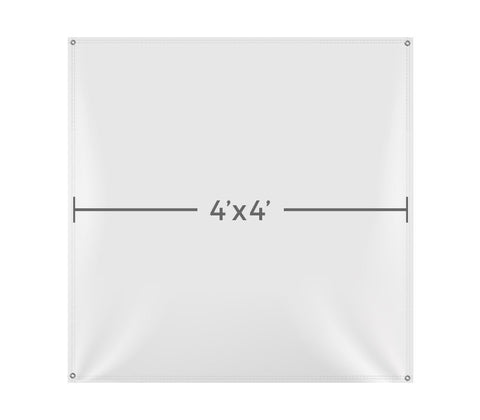 VB102 Custom Printed Vinyl 4X4 Banner - Backdrop Outlet