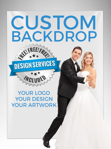Custom Design Step And Repeat Backdrop (Perfect For Logo, Wedding Photo Booth Party, Red Carpet Or Event) - C000 - Backdrop Outlet