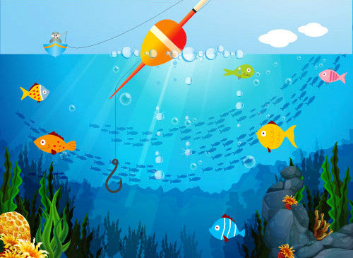 8193 Posable Backdrop Gone Fishing - Backdrop Outlet