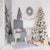 White Christmas Rustic Modern Tree with Gifts Printed Backdrop - 15004