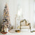 Christmas Tree Rocking Horse White Clean Simple Interior Printed Backdrop - 15008