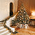 Interior Decoration Lights Christmas Tree with Gifts Printed Backdrop - 15015