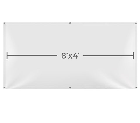 VB104 Custom Printed Vinyl 8X4 Banner - Backdrop Outlet