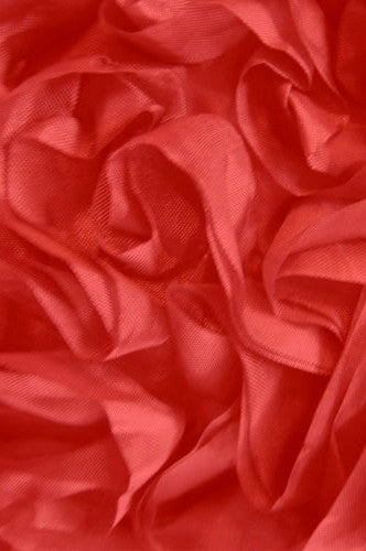 AB718 Red Crinkle Cloth 5x9  Posh Cloth Backdrop - Backdrop Outlet