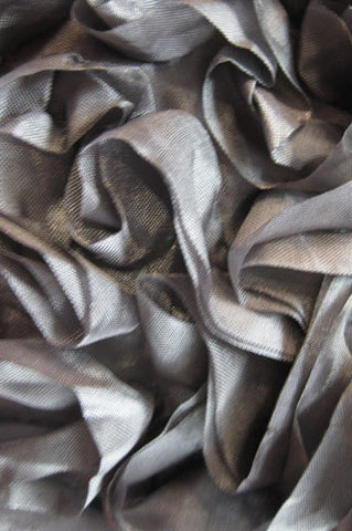 AB720 Silver Crinkle Cloth 5x9 Backdrop - Backdrop Outlet