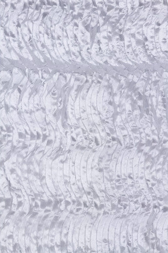 AB731 White Wave Cloth 5x9 Backdrop - Backdrop Outlet