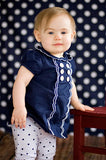 Poly Pattern Navy Polka Posh Cloth 5x9 Dots Background - AB851 - Backdrop Outlet