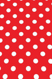 "Poly Pattern Red With White Polka 2"" Dots 5x9 Background - AB881 - Backdrop Outlet"