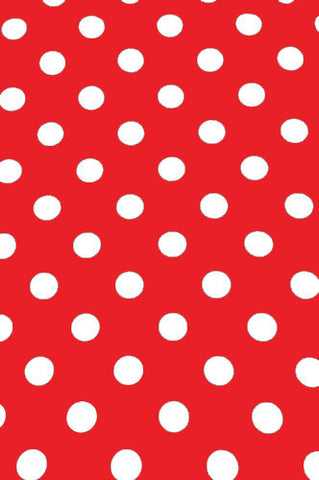 "AB881 Poly Pattern Red With White Polka 2"" Dots 5x9 Background - Backdrop Outlet"