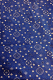 AB858 Poly Pattern Blue 5x9 Paisley Background - Backdrop Outlet