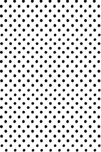 AB878 Poly Pattern White With Polka Quarter Inch Dots 5x9 Background - Backdrop Outlet