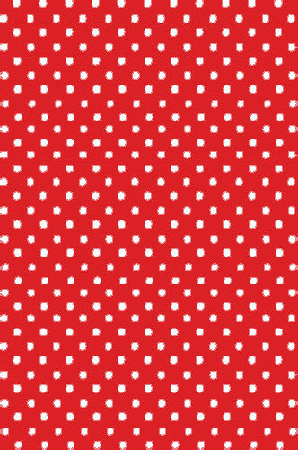 AB879 Poly Pattern Red With White Polka Quarter Inch Dots 5x9 Background - Backdrop Outlet