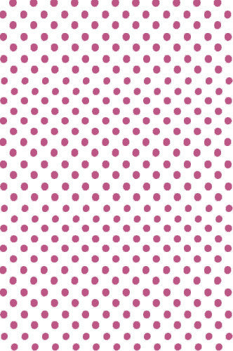 AB885 Poly Pattern White With Pink Polka Quarter Inch Dots 5x9 Background - Backdrop Outlet