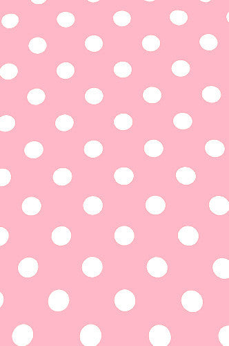 AB886 Pink With White One Inch Dots 5x9 Backdrop - Backdrop Outlet
