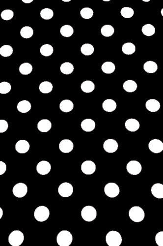 Polly Pattern Black With White One Inch Dots Backdrop - AB890 5'x9' - Backdrop Outlet