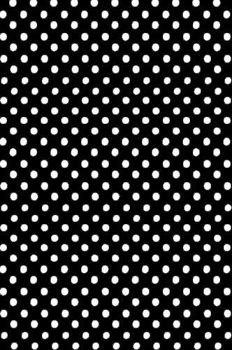 AB892 5'x7' Poly Pattern Black With White Quarter Inch Dots Backdrop - Backdrop Outlet
